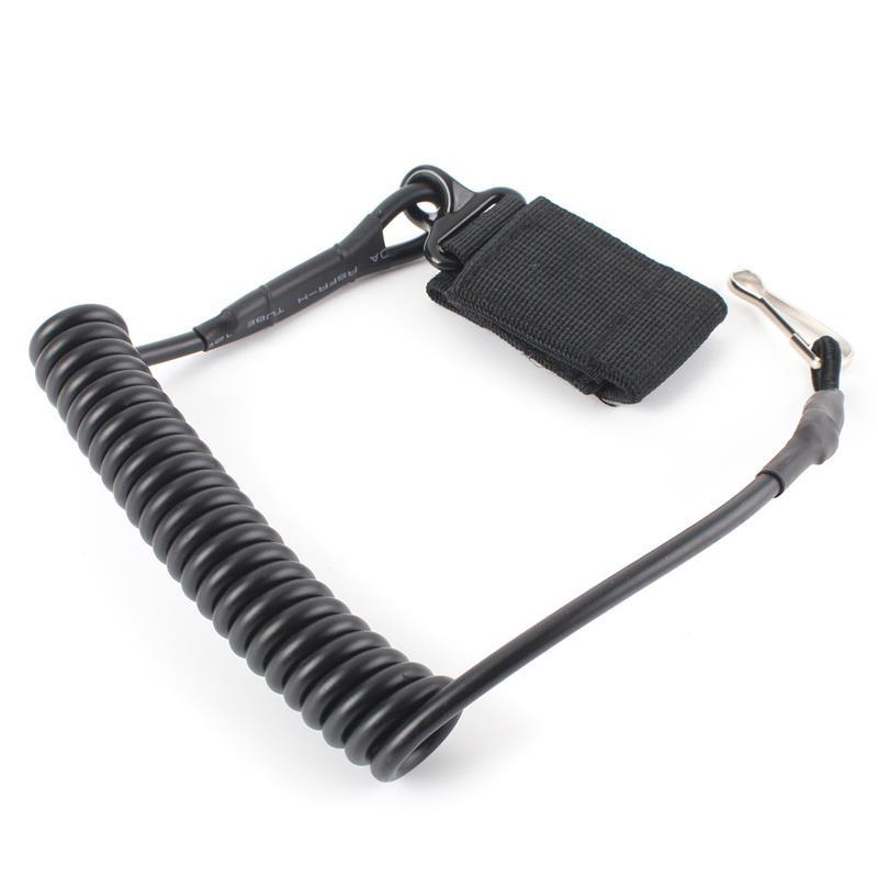Страховочный шнур спиральный (тренчик) Mil-tec черный
