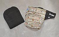 Угольный подгузник многоразовый с вкладышем