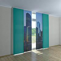 Японские фото шторы небоскребы