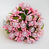 """Добавка к букету """"Сложные тычинки с бусиной"""", розовый, фото 2"""