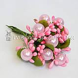 """Добавка к букету """"Сложные тычинки с бусиной"""", розовый, фото 3"""