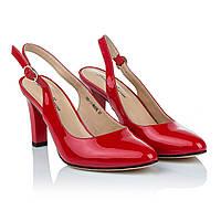 Босоножки с открытой пяткой и закрытым носком Lady Marcia (красного цвета, роскошные, элегантные, модные)