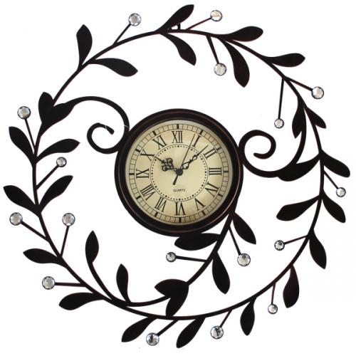 Интерьерные часы из металла