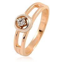 Золотое кольцо с бриллиантами - 3.36 гр, фото 1