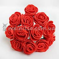Розы из латекса, 2,5-3 см, коралловый