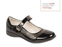 Школьные туфли для девочек Lapsi Лапси 16-1274 черные, фото 1