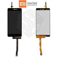 Дисплейный модуль (дисплей + сенсор) для Xiaomi Redmi 3X, черный, оригинал