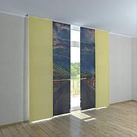 Японские шторы дорога к горам