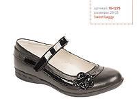 Детские туфли для девочек ТМ Lapsi (Лапси) 16-1275 черные
