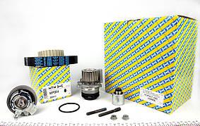Комплект ГРМ Кадди + помпа (VW Caddy \ VW T5 2003-> (120HTx30), SNR - оригинал,Франция
