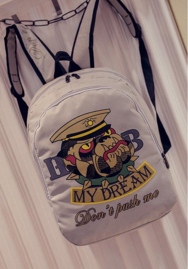 Городской рюкзак с принтом собаки