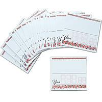 Ценники 6,5 х 6 (см) картонные белые с цветочным орнаментом 25 (шт)