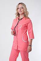 Женский медицинский костюм по доступной цене персиковый (батист)