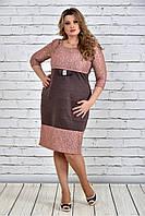 Женское Коричневое платье 0309-3 (42-74)
