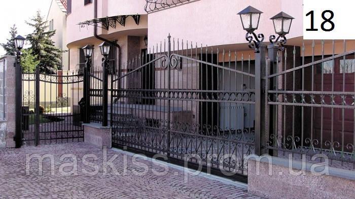 Кованые ворота распашные