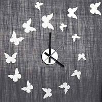 Виниловая наклейка-часы Feron NL24 бабочки 4542