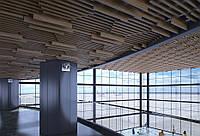 Кубообразный потолок. Рейка 34х100 шаг 50