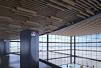 Кубообразный стелю. Рейка 34х100 крок 50