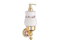 Дозатор для жидкого мыла KUGU Medusa 714G (латунь, золото, керамика)(Бесплатная доставка  )