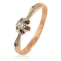 Золотое кольцо с бриллиантами - 1.77 гр, фото 1