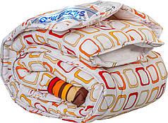 Одеяло 140х205 холлофайбер стандартное Merkys цветной поликоттон
