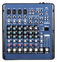 HL Audio SMR8 микшерный пульт, 4 моно + 2 стерео канала