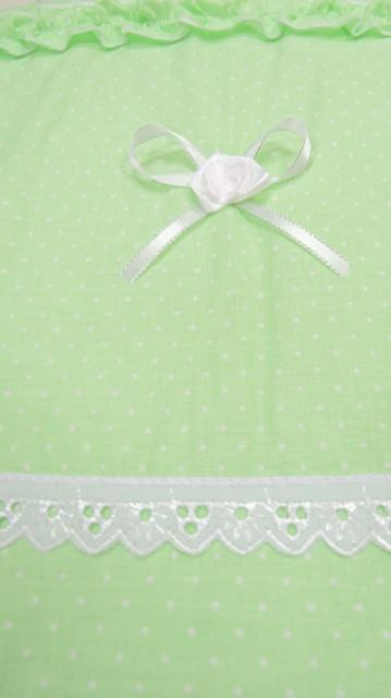Детский постельный комплект «Ангелочек Роза» (Салатовый, 6 элементов), EkoBaby