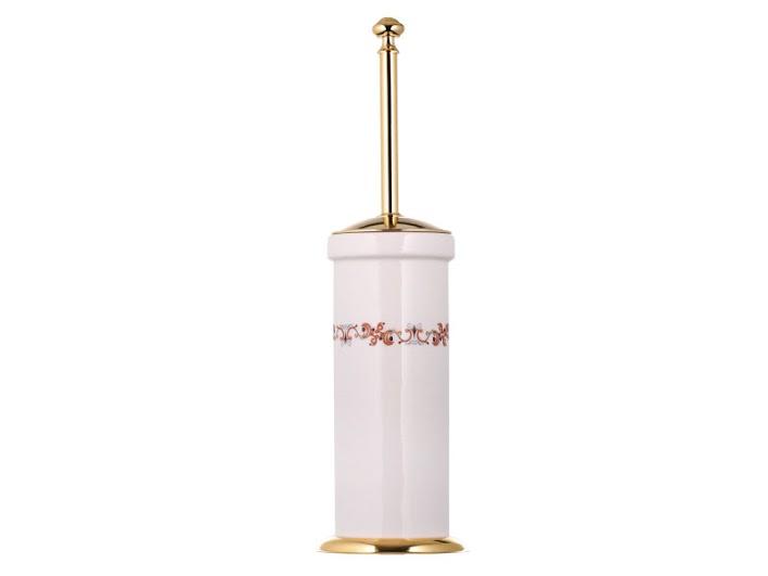 Ершик напольный KUGU Medusa 732G  (латунь, золото, керамика)(Бесплатная доставка  )