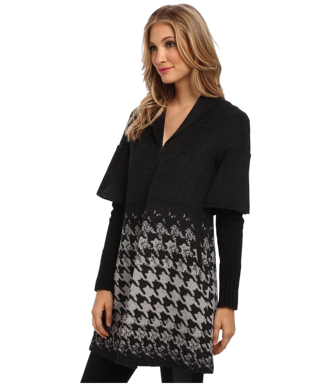 Пальто T Tahari, S, Black/Grey, FR1H5403