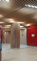 Кубообразный стелю. Рейка 34х100 крок 100