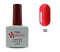 Гель-лак для ногтей Nails Molekula №32 красный перламутр