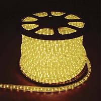 Светодиодный дюралайт LED 2-х жильный 1,44Вт/м 13мм круг желтый 36SMD  Feron