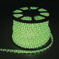 Светодиодный дюралайт LED 2-х жильный 1,44Вт/м 13мм круг зеленый 36SMD  Feron