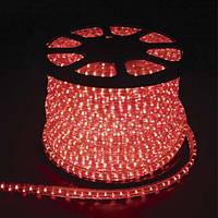 Светодиодный дюралайт LED 2-х жильный 1,44Вт/м 13мм круг красный 36SMD Feron