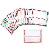 Ценники 6,5 х 6 (см) картонные с орнаментом 25 (шт)