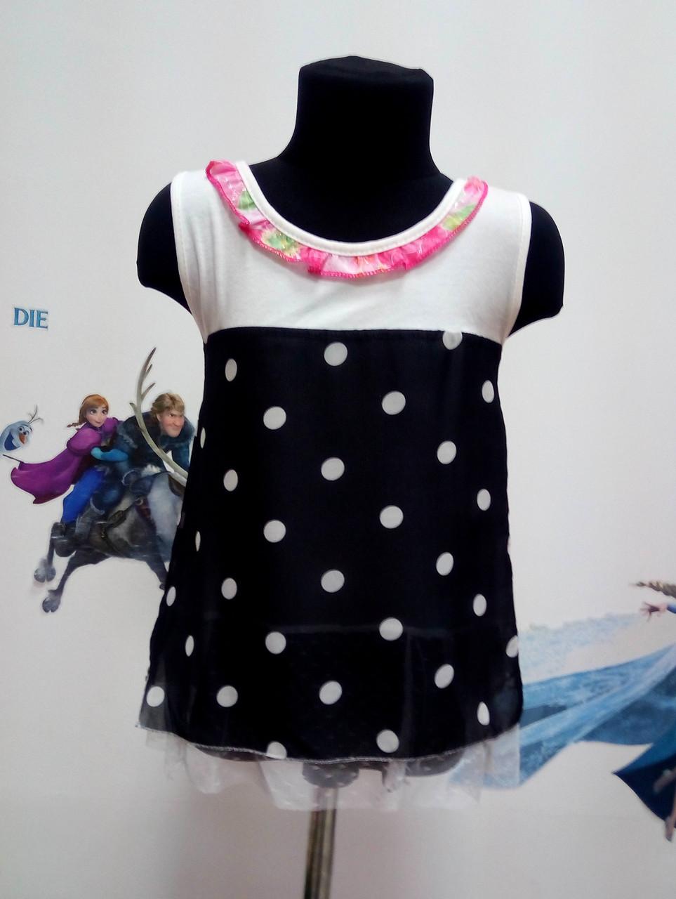 Сукня для дівчаток в горох