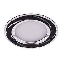 Светодиодный врезной светильник Feron AL777 5W 4000К круглый черный IP20 4930