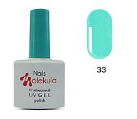 Гель-лак для ногтей Nails Molekula №33 яркий ментол