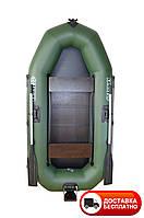 Надувная лодка Omega 245LST (поворотные уключины+слань коврик и навесной транец)
