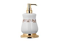 Дозатор для жидкого мыла KUGU Medusa Freestand 730G (латунь, золото, керамика)(Бесплатная доставка  )