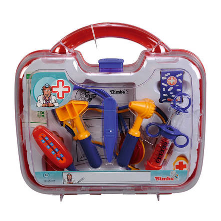 Игровой набор «Simba» (5542578) набор доктора в кейсе 30х28, 10 предметов, фото 2