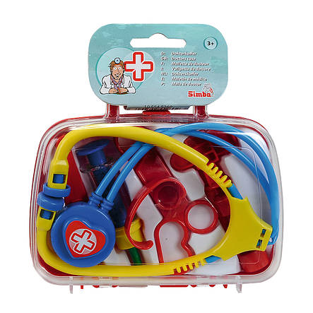 Игровой набор «Simba» (5545260) набор доктора в кейсе 18х16, 6 предметов, фото 2