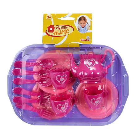 """Игровой набор «Simba» (4735259) набор посуды """"Чайный сервиз"""" с подносом, серия """"My Little Home"""", 14 предметов, фото 2"""