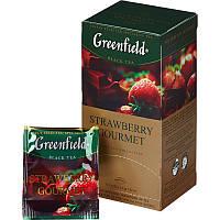 Чай Greenfield Strawberry Gourmet черный пакетированный 25 шт 905853