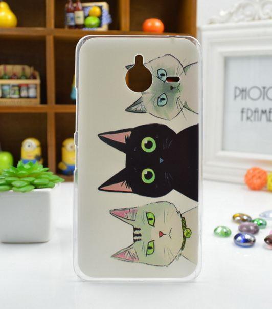 Чехол силиконовый бампер для Nokia Lumia 640 XL с рисунком Коты