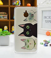 Чехол силиконовый бампер для Nokia Lumia 640 XL с рисунком Коты, фото 1