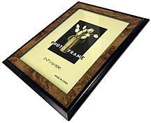 Рамки для фотографий (13х18см) коричневые с разводами