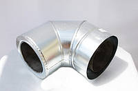 Колено для дымохода двустенное термоизоляционное (сэндвич) оцин./оцин. 90° диаметр 230/300 мм