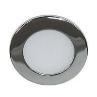 Светодиодный врезной светильник Feron AL500 3W 5000К круглый хром IP20 27928