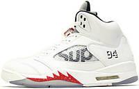 Баскетбольные кроссовки Air Jordan 5 Supreme White, найк джордан